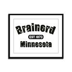 Brainerd Established 1873 Framed Panel Print