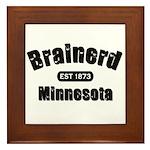 Brainerd Established 1873 Framed Tile
