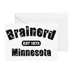 Brainerd Established 1873 Greeting Card
