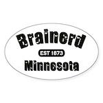 Brainerd Established 1873 Oval Sticker (50 pk)