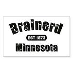 Brainerd Established 1873 Rectangle Sticker 10 pk