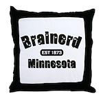 Brainerd Established 1873 Throw Pillow
