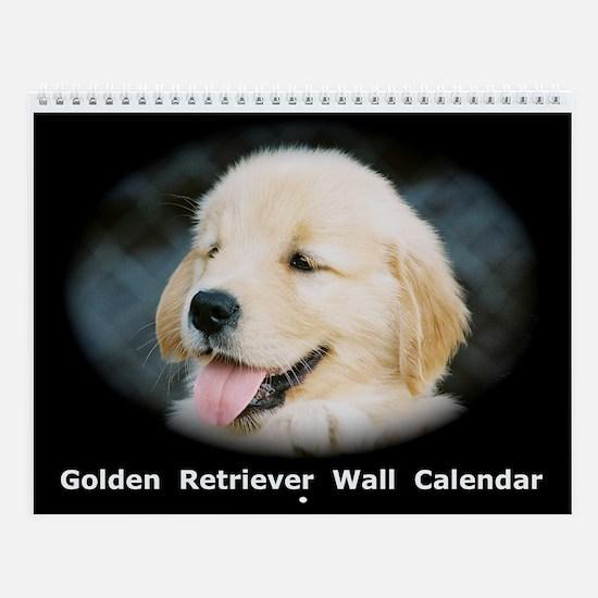 Golden Retreiver Puppy Wall Calendar
