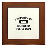 Property of Brainerd Police Dept Framed Tile