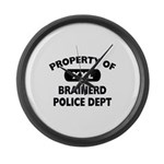 Property of Brainerd Police Dept Large Wall Clock
