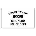 Property of Brainerd Police Dept Sticker (Rectangl