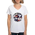 MOBILE MINE ASSEMBLY GROUP Women's V-Neck T-Shirt