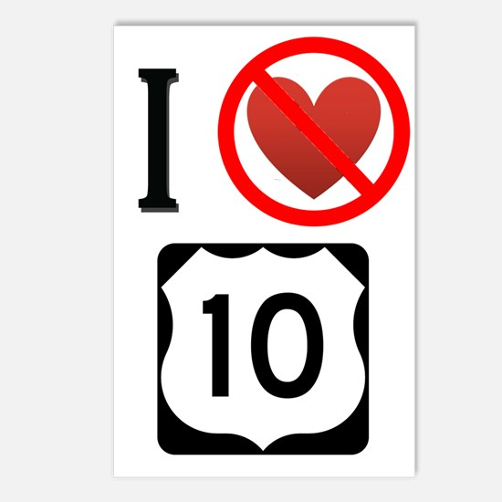 I Hate Highway 10 Postcards (Package of 8)