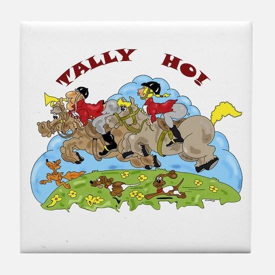 Tally Ho! Tile Coaster