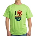I Hate Interstate 35W Green T-Shirt