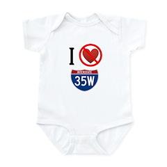 I Hate Interstate 35W Infant Bodysuit