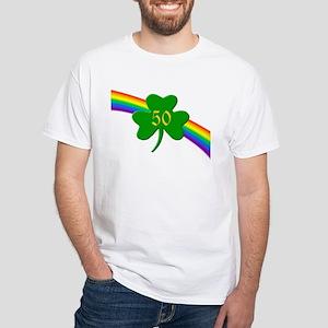 50th Shamrock White T-Shirt