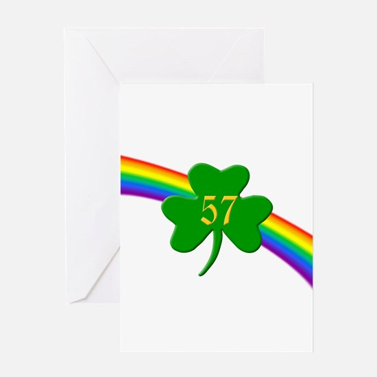 57th Shamrock Greeting Card