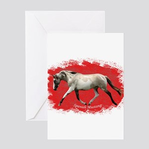 Red Multi-colored filly Greeting Card
