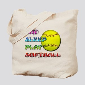 Eat Sleep Play Softball 3 Tote Bag