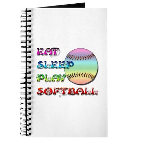 Eat Sleep Play Softball 4 Journal