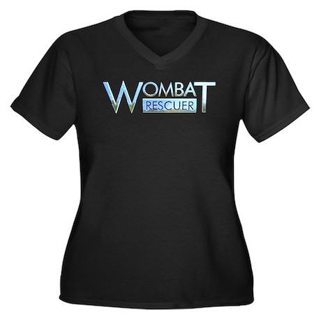 Wombat Rescuer Women's Plus Size V-Neck Dark T-Shi