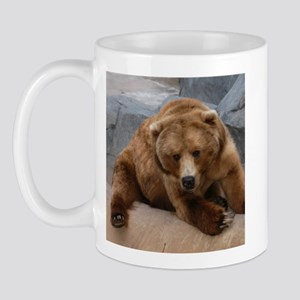 Alaskan Brown Bear Square Pho Mug