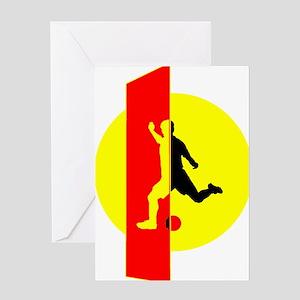Modern Soccer For Her Greeting Card