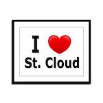 I Love St. Cloud Framed Panel Print
