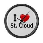 I Love St. Cloud Large Wall Clock