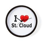 I Love St. Cloud Wall Clock
