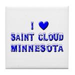 I Love St. Cloud Winter Tile Coaster