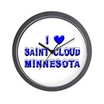 I Love St. Cloud Winter Wall Clock