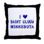 I Love St. Cloud Winter Throw Pillow