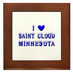 I Love St. Cloud Winter Framed Tile