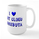 I Love St. Cloud Winter Large Mug