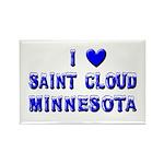 I Love St. Cloud Winter Rectangle Magnet