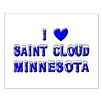I Love St. Cloud Winter Small Poster