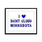 I Love St. Cloud Winter Framed Panel Print
