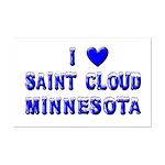 I Love St. Cloud Winter Mini Poster Print