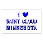 I Love St. Cloud Winter Rectangle Sticker 50 pk)