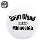 """Saint Cloud Established 1856 3.5"""" Button (10"""
