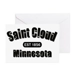 Saint Cloud Established 1856 Greeting Cards (Pk of