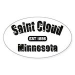 Saint Cloud Established 1856 Oval Sticker (10 pk)