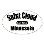 Saint Cloud Established 1856 Oval Sticker (50 pk)