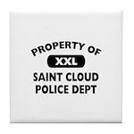 Property of Saint Cloud Police Dept Tile Coaster