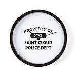 Property of Saint Cloud Police Dept Wall Clock