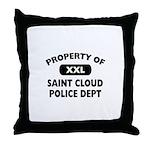 Property of Saint Cloud Police Dept Throw Pillow