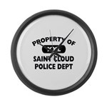 Property of Saint Cloud Police Dept Large Wall Clo
