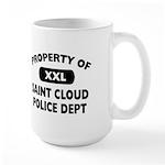 Property of Saint Cloud Police Dept Large Mug