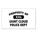Property of Saint Cloud Police Dept Sticker (Recta