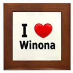 I Love Winona Framed Tile