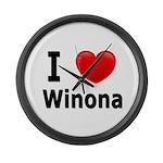 I Love Winona Large Wall Clock