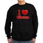 I Love Winona Sweatshirt (dark)