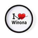 I Love Winona Wall Clock